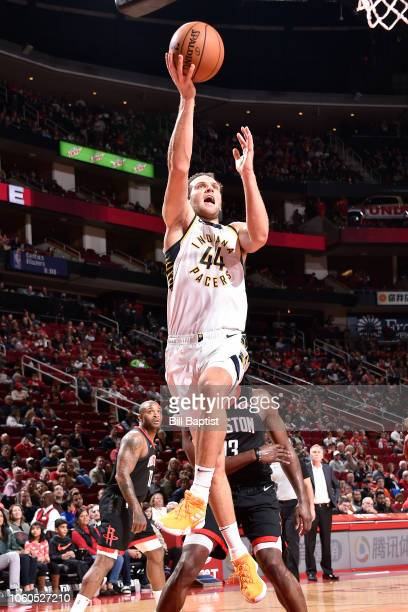 Bojan Bogdanovic of the Indiana Pacers shoots the ball against the Houston Rockets on November 11 2018 at Toyota Center in Houston Texas NOTE TO USER...