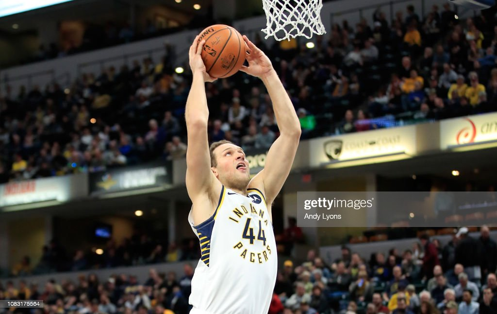 Bojan Bogdanovic of the Indiana Pacers shoots the ball
