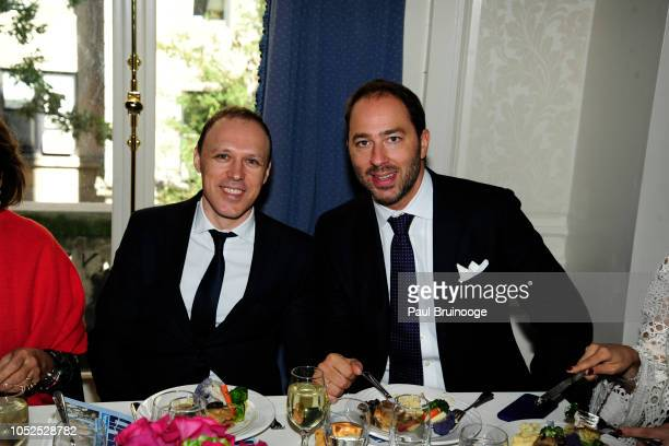 Bojan Bukda and Prince Dushan of Yugoslavia attend Lifeline New York Hosts Annual Benefit Luncheon At The Liederkranz Foundation at Liederkranz Club...
