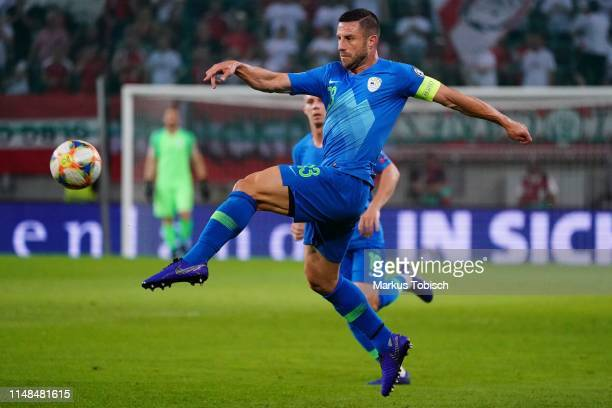 Bojan Jokic of Slovenia during the UEFA Euro 2020 Qualifier match between Austria and Slovenia at Woerthersee Stadion on June 7, 2019 in Klagenfurt,...