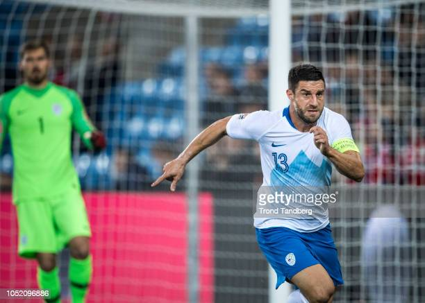 Bojan Jokic of Slovenia during the UEFA Nations League C group three match between Norway and Slovenia at Ullevaal Stadion on October 13 2018 in Oslo...