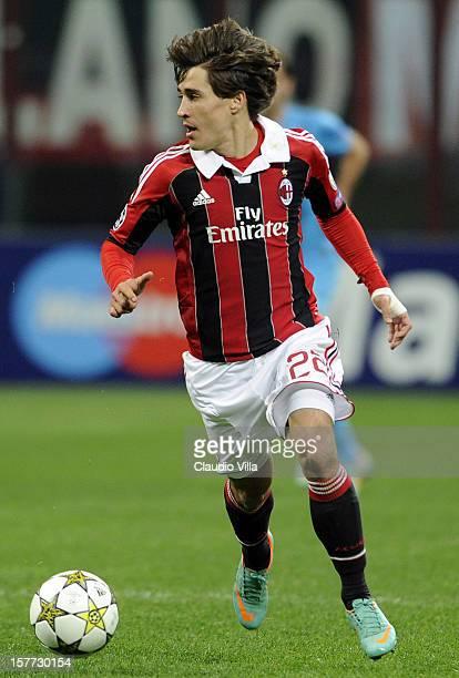 Bojan Krkic of AC Milan in action during the UEFA Champions League group C match between AC Milan and Zenit St Petersburg at San Siro Stadium on...