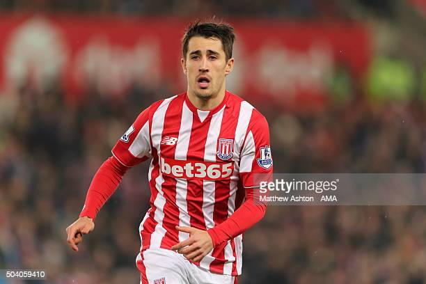 Bojan Krkic of Stoke City during the Capital One Cup Semi Final First Leg between Stoke City and Liverpool at Britannia Stadium on January 5 2016 in...