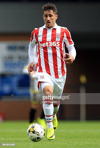 Bojan Krkic of Stoke City during the Pre Season Friendly match between Burton Albion and Stoke City at the Pirelli Stadium on July 16 2016 in Burton...