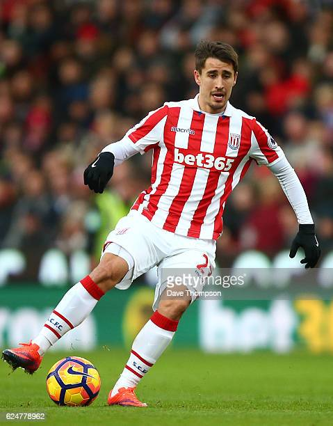 Bojan Krkic of Stoke City during the Premier League match between Stoke City and AFC Bournemouth at Bet365 Stadium on November 19 2016 in Stoke on...