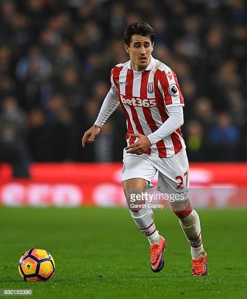Bojan Krkic of Stoke City during the Premier League match between Stoke City and Leicester City at Bet365 Stadium on December 17 2016 in Stoke on...