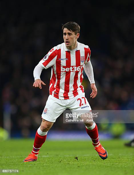 Bojan Krkic of Stoke City during the Premier League match between Chelsea and Stoke City at Stamford Bridge on December 31 2016 in London England