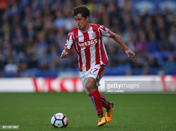 Bojan Krkic of Stoke City during the Premier League match between Everton and Stoke City at Goodison Park on August 12 2017 in Liverpool England