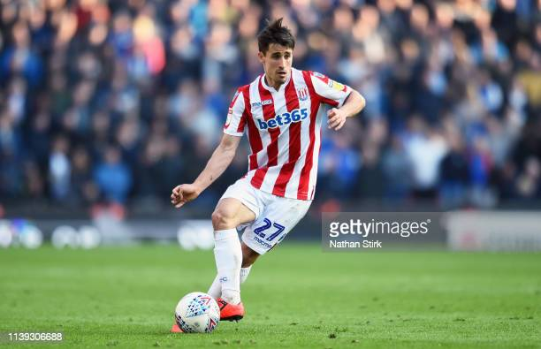 Bojan Krkic of Stoke City in action during the Sky Bet Championship match between Stoke City and Sheffield Wednesday at Bet365 Stadium on March 30...