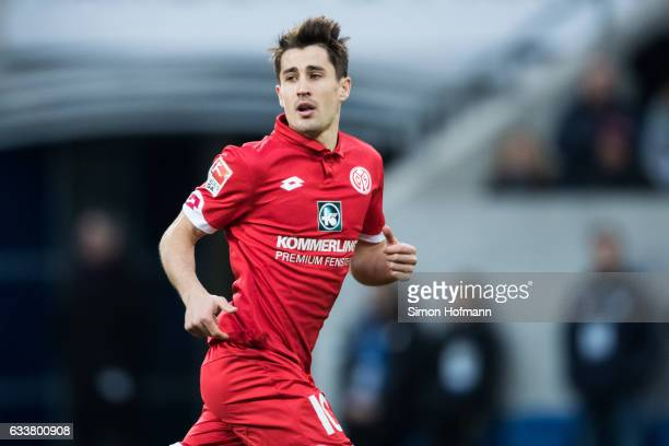 Bojan Krkic Perez of Mainz looks on during the Bundesliga match between TSG 1899 Hoffenheim and 1 FSV Mainz 05 at Wirsol RheinNeckarArena on February...