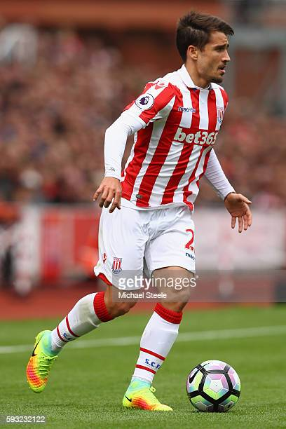 Bojan of Stoke City during the Premier League match between Stoke City and Manchester City at the Bet365 Stadium on August 20 2016 in Stoke on Trent...