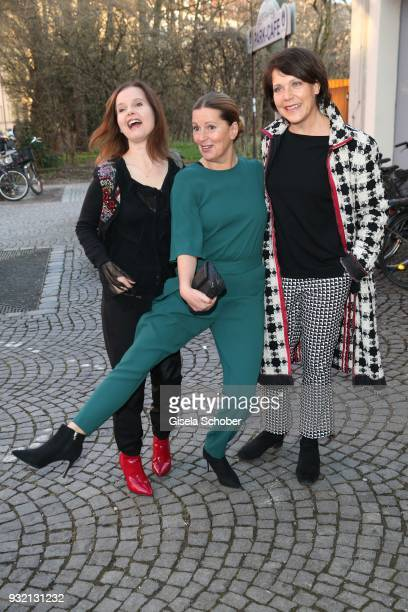 Bojana Golenac Karin Thaler and Janina Hartwig during the NdF after work press cocktail at Parkcafe on March 14 2018 in Munich Germany
