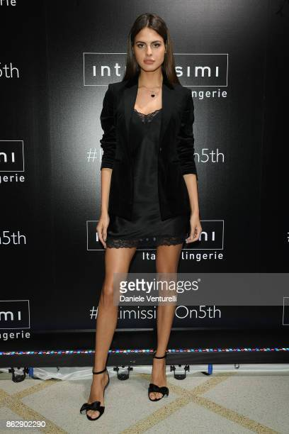Bojana Krsmanovic attends the Intimissimi Grand Opening on October 18 2017 in New York United States