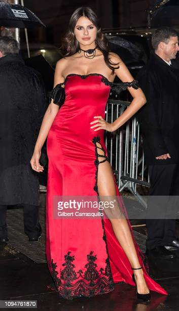 Bojana Krsmanovic is seen arriving to the amfAR New York Gala 2019 at Cipriani Wall Street on February 6 2019 in New York City