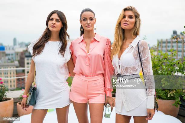 Bojana Krsmanovic Sofia Resing and Ashley Haas attend the Mery Playa Swimwear launch at Spring Place on June 20 2018 in New York City