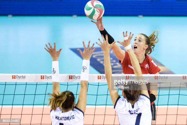 Bojana Markovic of Mulhouse during the volleyball women's supercup match between Mulhouse and Venelles on October 7 2017 in Mulhouse France