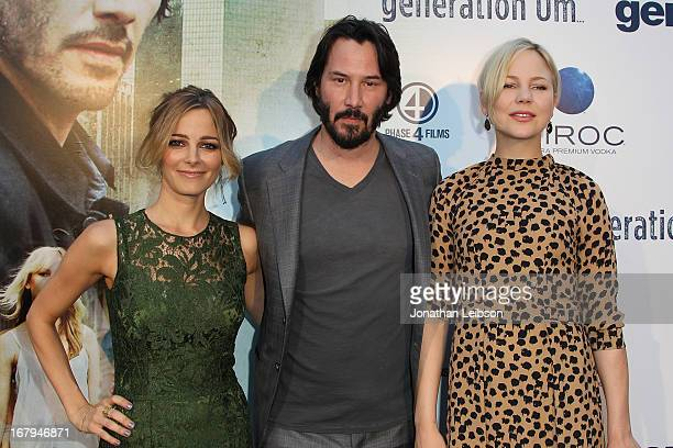 Bojana Novakovic Keanu Reeves and Adelaide Clemens attend the GenArt Presents 'Generation Um' Powered By CIROC Vodka at ArcLight Hollywood on May 2...