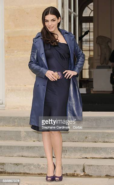 Bojana Panic attends the Christian Dior Haute Couture Spring/Summer 2009 Collection fashion show at Paris Fashion Week