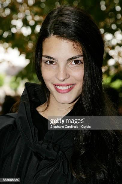 Bojana Panic attends the Christian Dior Spring/Summer 2008 show during Paris Fashion Week