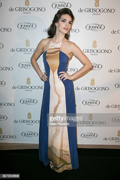 Bojana Panic attends the 'De Grisogono' La Boetie cocktail on January 28 2016 in Paris France