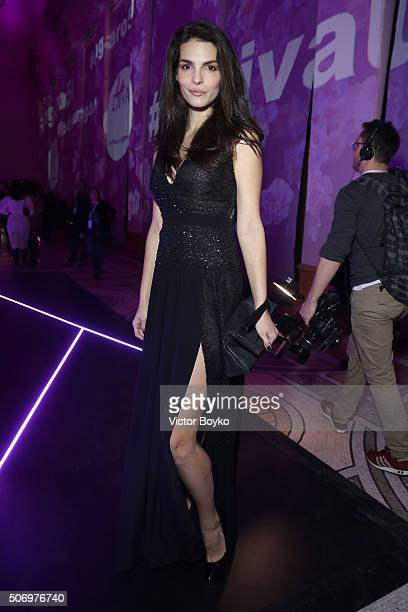 Bojana Panic attends the Launch party of the New Fragrance 'La Diva' And 50th Anniversary of Emanuel Ungaro at Le Petit Palais on January 26 2016 in...