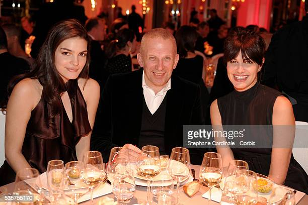 Bojana Panic Jean Paul Gaultier and Helena Noguerra attend the 7th annual Sidaction fashion fundraising dinner to fight AIDS in Paris