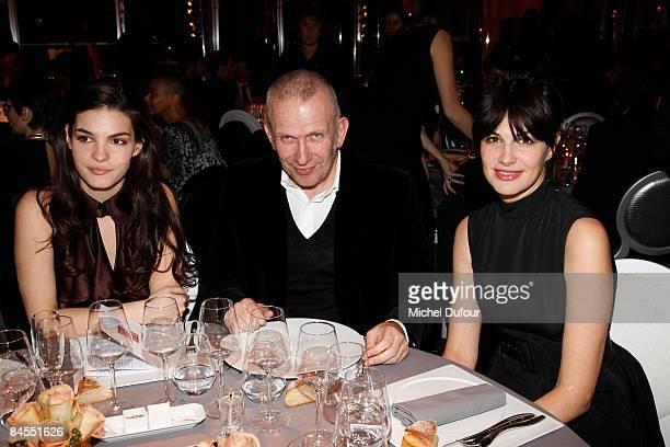 PARIS JANUARY 29 Bojana Panic Jean Paul Gaultier and Helena Noguerra attends the Fashion Dinner for Aids at Pavillon d'Armenonville on January 29...