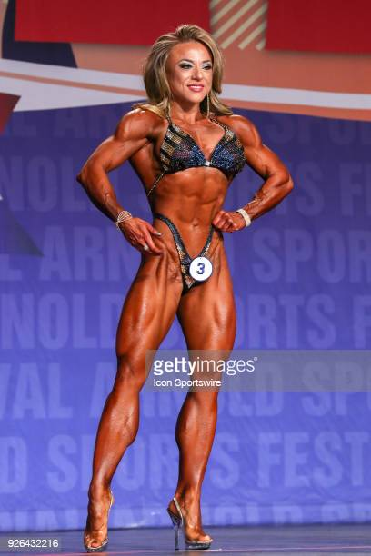 Bojana Vasiljevic competes in Figure International as part of the Arnold Sports Festival on March 2 at the Greater Columbus Convention Center in...