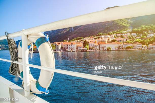 boka bay day cruise, montenegro - harbour stock pictures, royalty-free photos & images