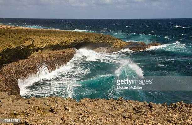 CONTENT] Boka Tabla in the Sheta Boka National Park known for its rough coast and waves on the north coast of the Curacao