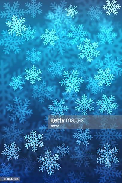 Bokeh Weihnachten Schneeflocke Farbverlauf Hintergrund mit Platz für text