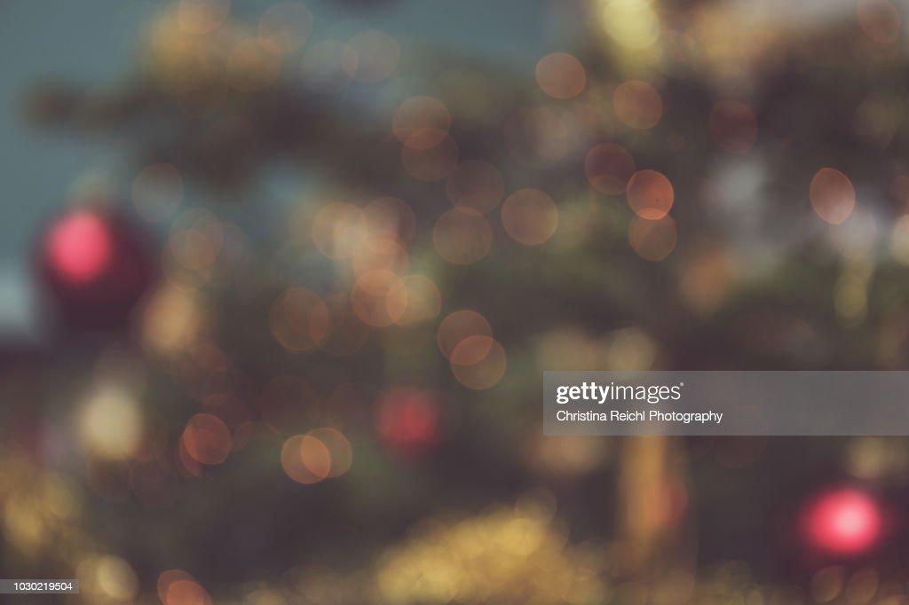 Bokeh image of Christmas tree : Stock Photo