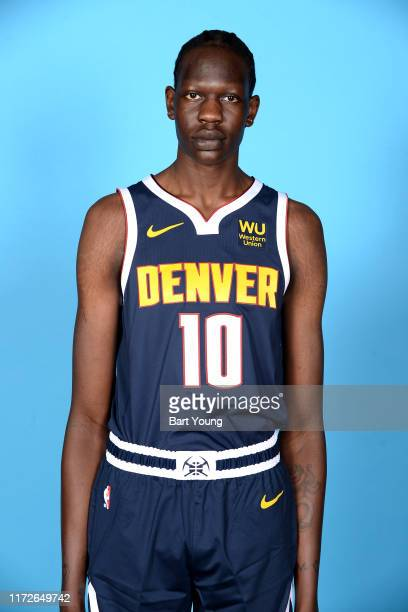 Bol Bol of the Denver Nuggets poses for a head shot during media day on September 30 2019 at the Pepsi Center in Denver Colorado NOTE TO USER User...