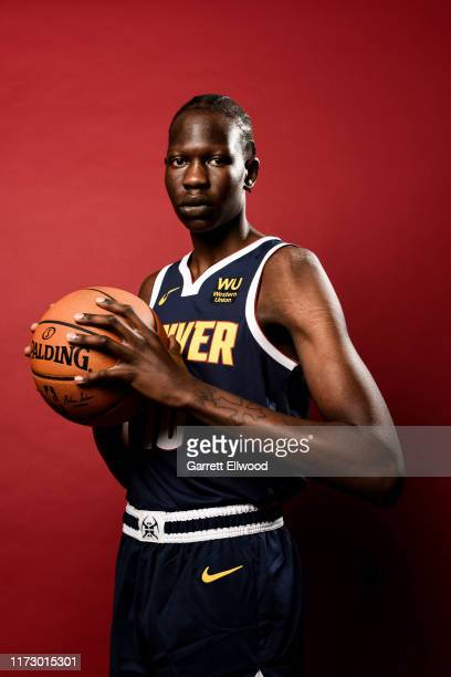 Bol Bol of the Denver Nuggets poses for a portrait during media day on September 30 2019 at the Pepsi Center in Denver Colorado NOTE TO USER User...