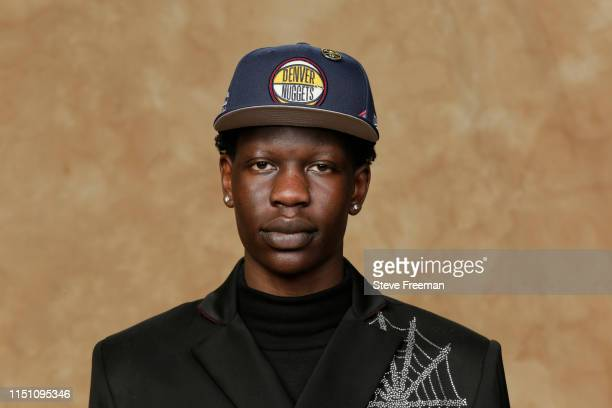 Bol Bol poses for a portrait after being drafted by the Denver Nuggets at the 2019 NBA Draft on June 20 2019 at Barclays Center in Brooklyn New York...