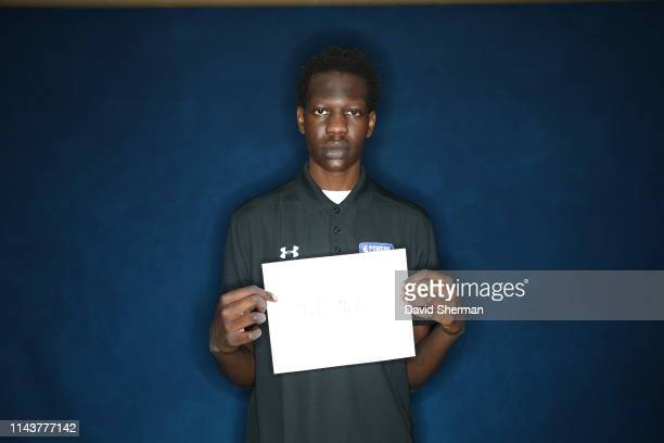 Bol Bol poses for a portrait at the 2019 NBA Draft Combine on May 14 2019 at the Chicago Hilton in Chicago Illinois NOTE TO USER User expressly...