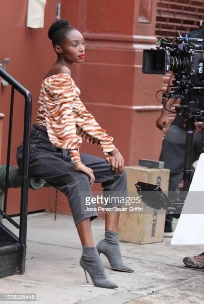 Bola Edun is seen doing a photoshoot for Maybelline on August 13 2020 in New York City