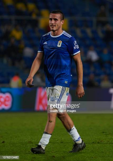 Bolano of Real Oviedo during the La Liga 123 match between UD Las Palmas and Oviedo at Estadio Gran Canaria on December 02 2018 in Las Palmas Spain