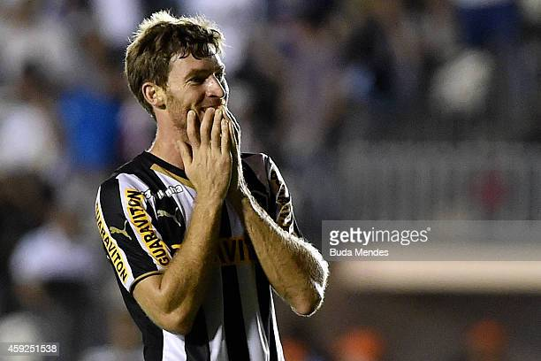 Bolatti of Botafogo gestures after a lost goal during a match between Botafogo and Figueirense as part of Brasileirao Series A 2014 at Sao Januario...