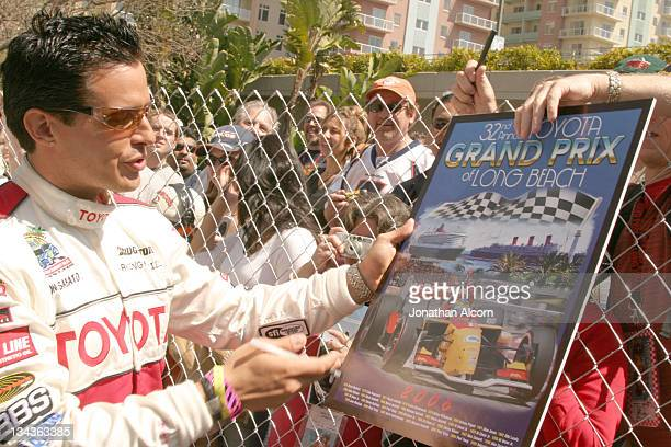 Bold and the Beautiful star Antonio Sabato Jr signs autographs at the 30th Anniversary Toyota Pro/Celebrity Race in Long Beach California on April 8...