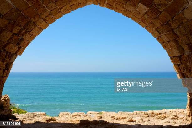 Bold Colours, a window to the turquoise Mediterranean sea