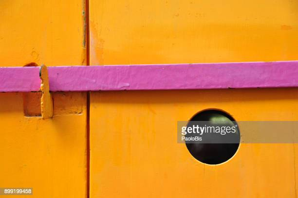 Bold Colours - Colorful detail of a door, Montmartre, Paris
