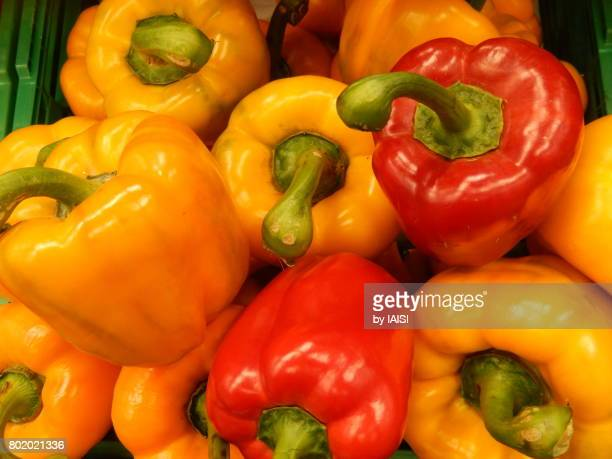 Bold Colours, red and orange bell pepper