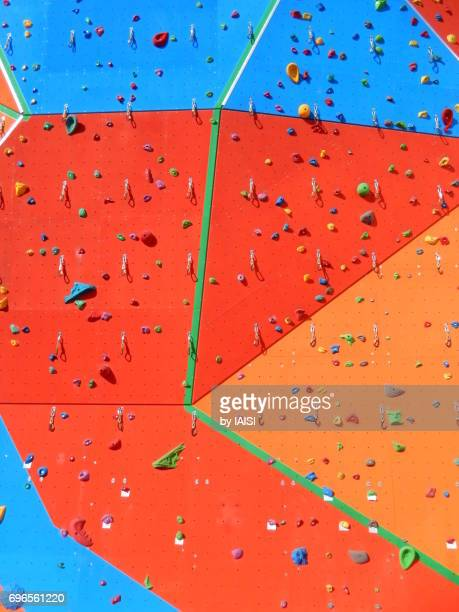 Bold Colours, the climbing wall, full frame