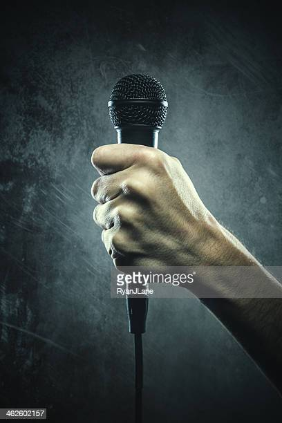 Bold Microphone in Fist