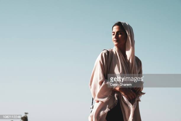 a bold muslim woman - natural beauty people stock pictures, royalty-free photos & images