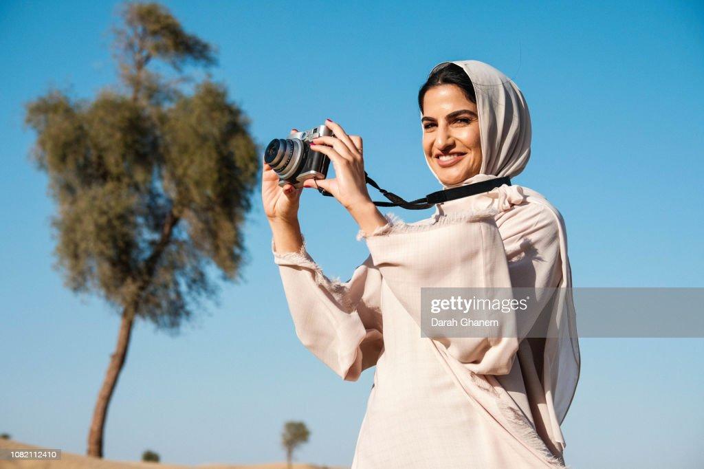 A Bold Muslim Woman : Stock-Foto