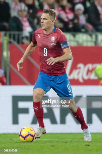 Bolek Dockal of Czech Republic in action during International Friendly match between Poland and Czech Republic on November 15, 2018 in Gdansk, Poland.
