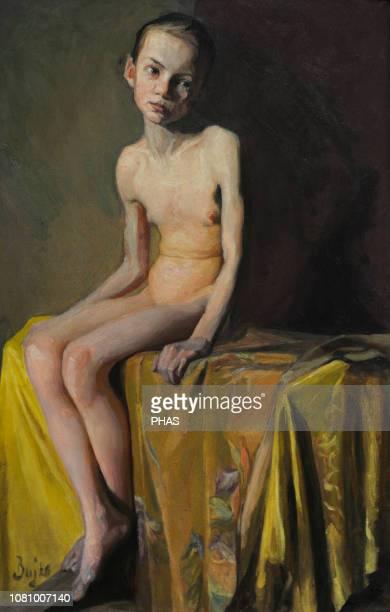 Boleslaw Bujko Polish painter Nude of a girl early 20th century National Gallery of Art Vilnius Lithuania