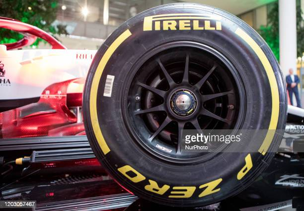 Bolid Alfa Romeo C39 during the presentation of Alfa Romeo Racing Orlen team on Media day of F1 team in Warsaw Poland on February 24 2020